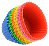 AMAA ベーキングカップ マフィンカップ カップ ケーキ 型 シリコーン クッキングカップ ランダム色 10個セット