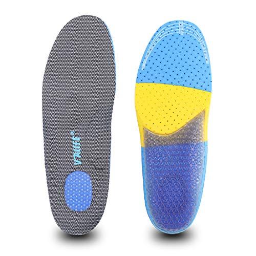 Edter インソール 衝撃吸収 人間工学 疲労緩和サポート 中敷き 通気 足首の痛み 足底筋膜炎 立ち仕事スポーツ サイズ調整可能 靴 ゲル 男女兼用