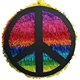 Rainbow Peace Sign Pinata