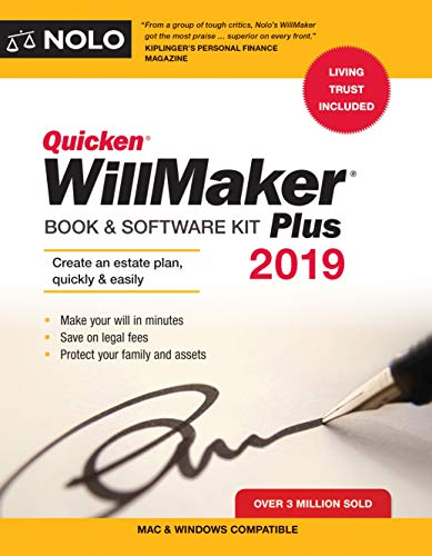 Download Quicken Willmaker Plus 2019 Edition: Book & Software Kit 1413325556