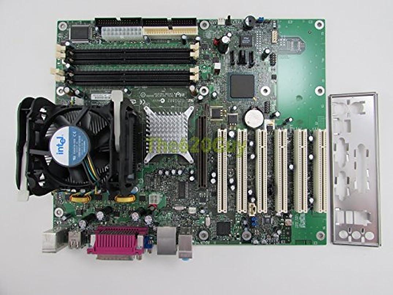 クリーク惨めな時系列インテルd865gbf d865percマザーボードATX + Pentium 4 3.0 GHz CPU + HSF I / Oプレート