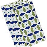 (48cm x 48cm, Dazzling Blue) - E By Design Beach Ball Geometric Print Napkin, 48cm by 48cm, Dazzling Blue