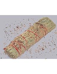3 – 4インチDragon 's Blood樹脂と山セージWand Smudgeバンドルクレンジング。Smudging、ハーブ、ウィッカ、Native American Sold by Sacred Tiger