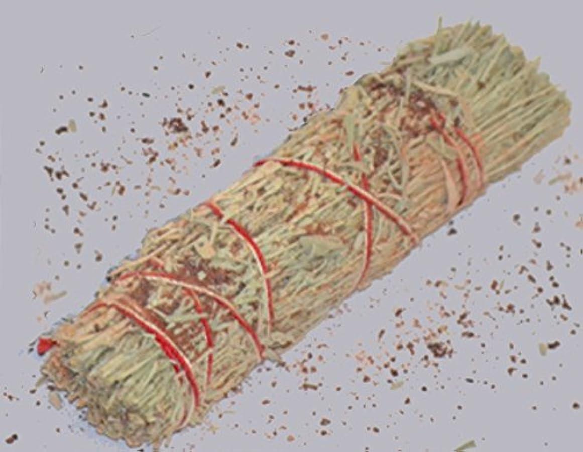 振る舞いお酒見通し3 – 4インチDragon 's Blood樹脂と山セージWand Smudgeバンドルクレンジング。Smudging、ハーブ、ウィッカ、Native American Sold by Sacred Tiger
