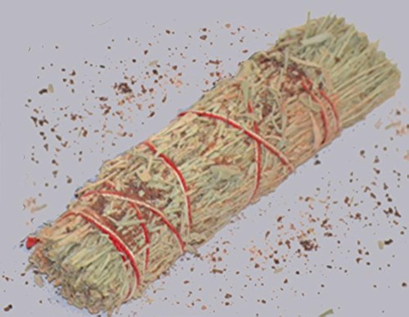 ねじれアルファベットヘッジ3 – 4インチDragon 's Blood樹脂と山セージWand Smudgeバンドルクレンジング。Smudging、ハーブ、ウィッカ、Native American Sold by Sacred Tiger