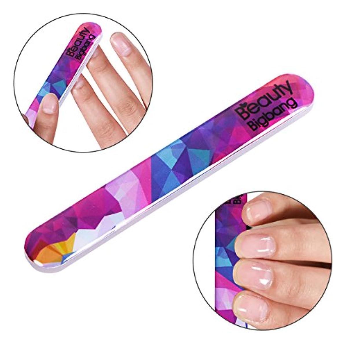 息子機械的適性Goshang 爪やすり 爪磨き ガラス爪ヤスリ ネイルファイル ネイルシャイナー つめケア ガラス製 ネイルケア (2#)