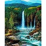 5D Diamond Painting Kit Full Drill, Diamond Art DIY Cross Stitch Mosaic Picture Artwork Home Decor Waterfall 30X40cm