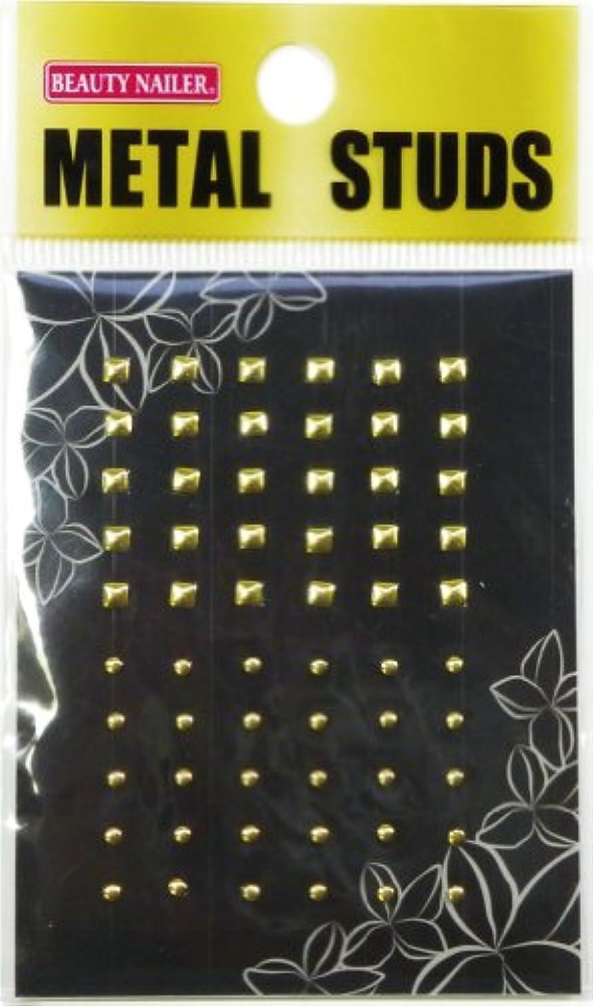 余剰めんどり証言ビューティーネイラー ネイル用ストーン メタルスタッズ(ゴールド) MN-2