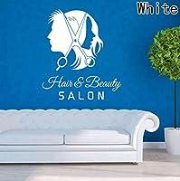 Ansyny 50 * 59センチ美容室理髪店壁飾りアートビニールステッカーインテリアウィンドウの装飾diy髪美容室ウォールステッカー