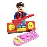 MinifigurePacks : Lego Back To The Future Marty Mcflyバンドル( 1)ミニフィギュア–Cuusooバリアント( 1) Figure Display Base (..