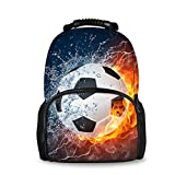 Best Bagpacks - HUGS IDEA Fire Football Design Children School Backpack Review