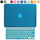 MS factory MacBook Pro 15 Retina ディスプレイ ケース + 日本語 キーボード カバー ハードケース Mid 2012?Mid 2015 / A1398 対応 全12色カバー RMC series マックブック プロ レティナ 15.4 インチ クリスタル スカイブルー 水色 RMC-SETR15XSK