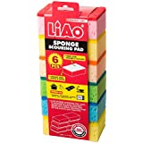 LIAO OCN-069 Sponge with Scouring Pad (Pack of 6)