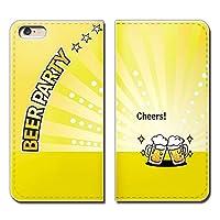 (ティアラ)Tiara Galaxy A30 UQ mobile SCV43U スマホケース 手帳型 ベルトなし ビール 乾杯 夏 パーティー BEER 手帳ケース カバー バンドなし マグネット式 バンドレス EB258020107001