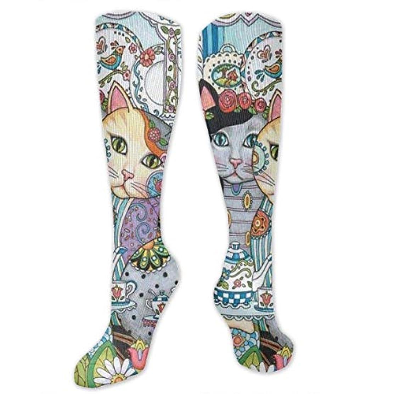 扇動エジプト人協定靴下,ストッキング,野生のジョーカー,実際,秋の本質,冬必須,サマーウェア&RBXAA Creative Cute Cats Socks Women's Winter Cotton Long Tube Socks Knee...