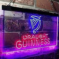 Guinness Draught on tap Beer Bar Decor LED看板 ネオンサイン バーライト 電飾 ビールバー 広告用標識 ブルー+レッド 40cm x 30cm