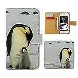 Tiara ZenFone Go ZB551KL スマホケース 手帳型 アニマル 動物 ペンギン 手帳ケース カバー [E025204_05]