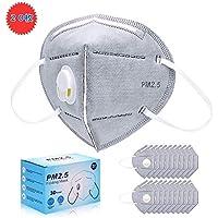 マスク 使い捨て マスク 立体 N95 ますく ふつうサイズ PM2.5対応 排気弁付き 個包装 20枚入れ