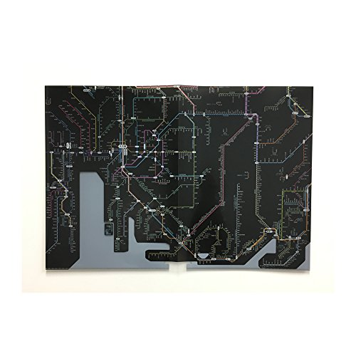 [해외]도쿄 장바구니 그래픽 철도 노선도 클리어 파일/Tokyo Cartograf Railway Route Map Clear File