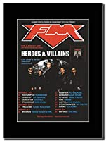 - FM - Heroes & Villains UK Tour Dates 2015-2016. - つや消しマウントマガジンプロモーションアートワーク、ブラックマウント Matted Mounted Magazine Promotional Artwork on a Black Mount