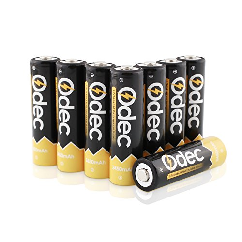 Odec 単3形ニッケル水素充電式電池 8個パック 最小容量2450mAh 約1200回使用可能