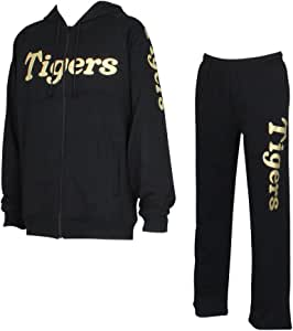阪神タイガース スウェットSETUP18 スウェット セットアップ プロ野球 グッズ 上下 セット HTSP-18(XL, ブラック)