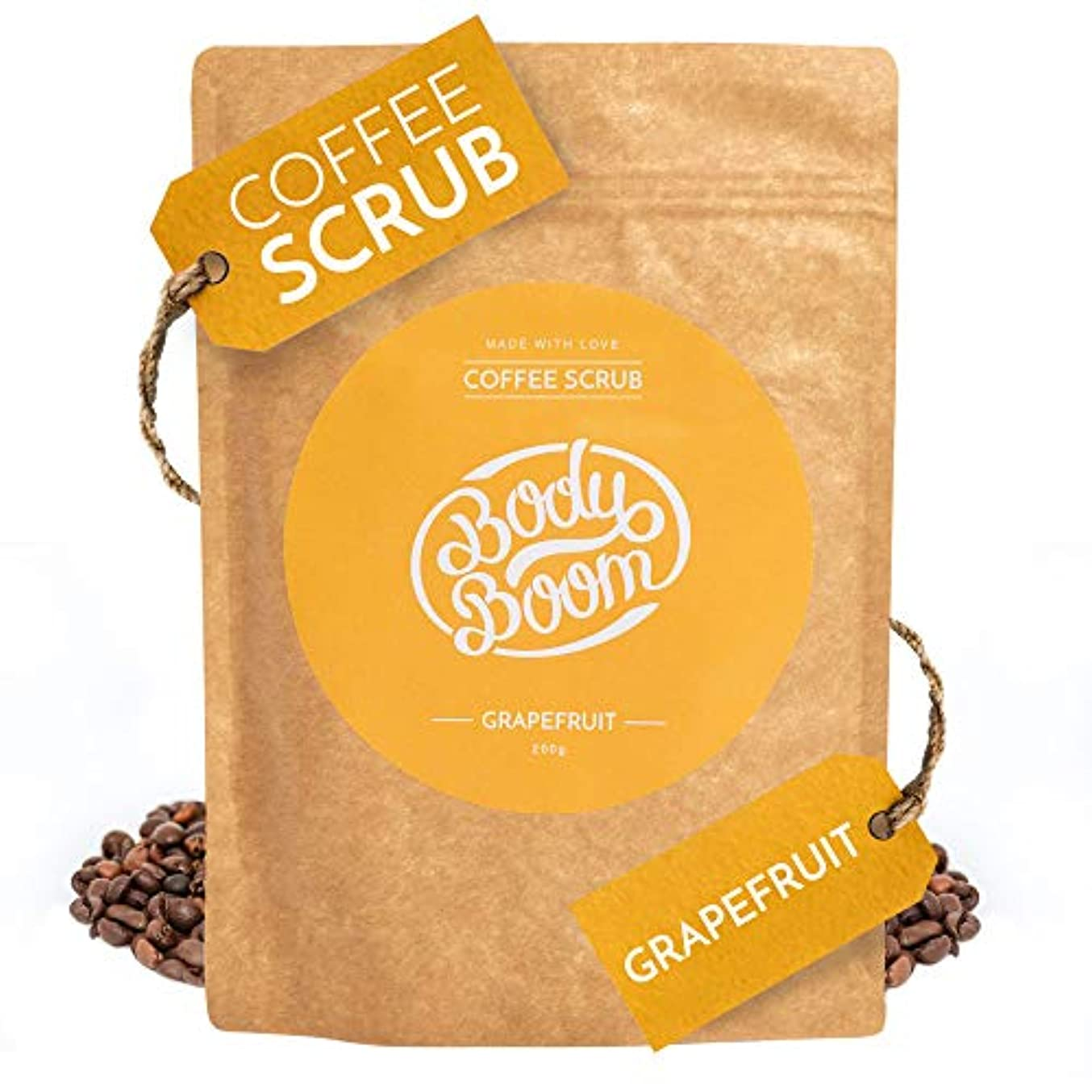 定規ではごきげんよう宿命コーヒースクラブ Body Boom ボディブーム グレープフルーツ 200g