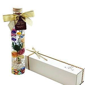 ハーバリウム Tropical Color (トロピカル カラー) サマー Ver. 1本 スリーブ付 ギフト箱 プレゼント に最適です