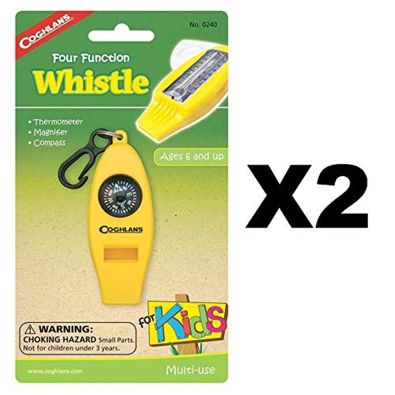 偶然の蒸し器ワイプCoghlans Four Function Whistle for Kids by Coghlans