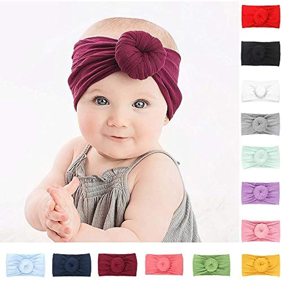 シネマ同行爪かわいい赤ちゃんストレッチヘアバンド、1ピース無地サークル非スリップ赤ちゃん女の子弾性ヘッドバンドターバン
