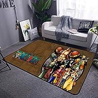 カーペットワンピースアニメカーペット長方形滑り止めフロアマット寮リビングルームベッドルーム AMINIY (Color : E, Size : 140×200cm)