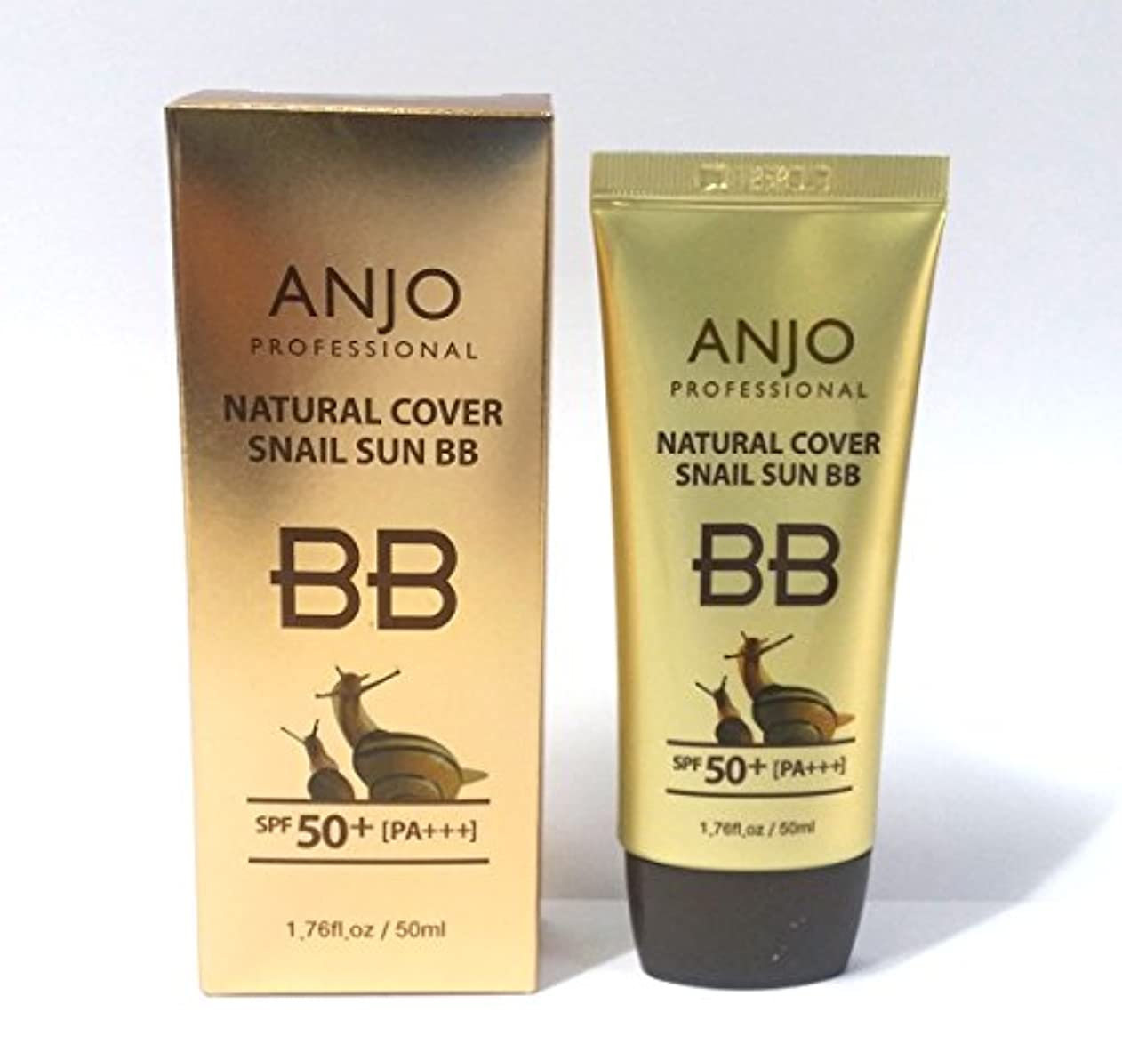 傷跡コンパイル前文[ANJO] ナチュラルカバーカタツムリサンBBクリームSPF 50 + PA +++ 50ml X 3EA /メイクアップベース/カタツムリ粘液 / Natural Cover Snail Sun BB Cream SPF...