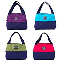 Bluee : 2017 Women Handbag Fashion Constract Color Oxford Waterproof Bags Casual Tote Designer Lady Shopping Bag Lunch bag