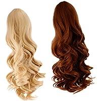 ノーブランド品 2個入り お買い得  ウィッグ  巻き 髪  カーリーヘア  ロング髪  かつら  18インチ アメリカガール人形適用  6色選べる  - カラー6