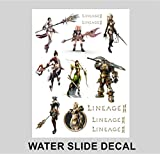Lineage 2?II文字ゲームWater Slide Decal iPad iPhoneノートパソコンウィンドウa4フルページ A4 Transparent 2016460000000000011-004