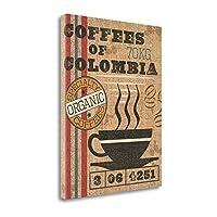 """""""コーヒー袋I """" by Pela Studioアートジークレー、ギャラリーラップキャンバスの印刷、ハングする準備"""