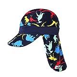 VaenaitBabyベビー子供水着日焼け予防UVカットフラップキャップ帽子TyrannoS