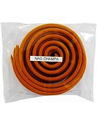 お香/うずまき香 NAG CHAMPA ナグチャンパ 直径6.5cm×5巻セット [並行輸入品]