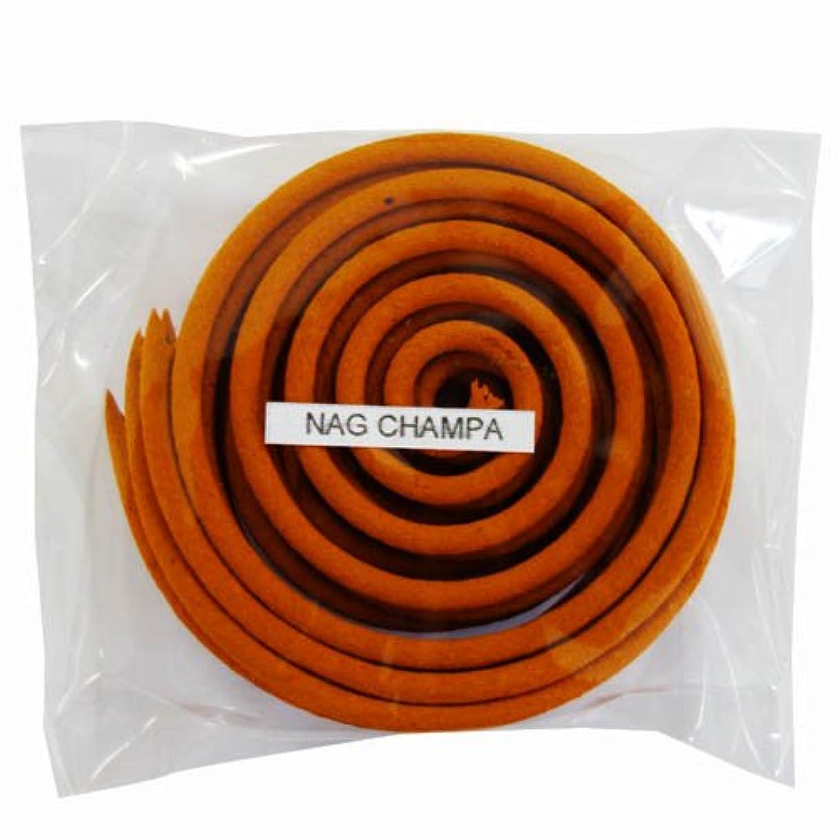 着陸遷移細いお香/うずまき香 NAG CHAMPA ナグチャンパ 直径6.5cm×5巻セット [並行輸入品]