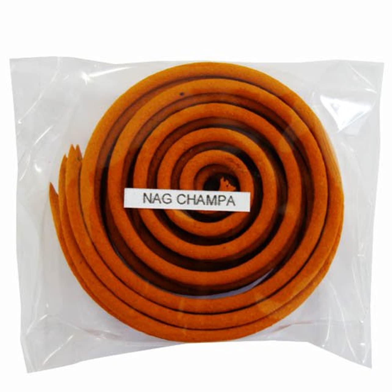 干し草瞑想するスクレーパーお香/うずまき香 NAG CHAMPA ナグチャンパ 直径6.5cm×5巻セット [並行輸入品]