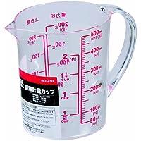 パール金属 ENJOY KITCHEN 大きい目盛 耐熱計量カップ 500ml 【日本製】 C-4742