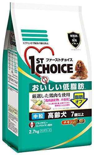 アース バイオケミカル ファーストチョイス おいしい低脂肪 高齢犬 7歳以上 チキン 中粒 2.7kg