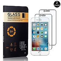 【2枚セット】 iPhone 6 / 6S / 7 / 8 超薄 フィルム CUNUS Apple iPhone 6 / 6S / 7 / 8 専用設計 強化ガラスフィルム 高透明度で 気泡防止 飛散防止 硬度9H 耐衝撃 液晶保護フィルム