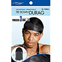 Breathable Durag For Men One Size Fits All Black By Mr.Durag