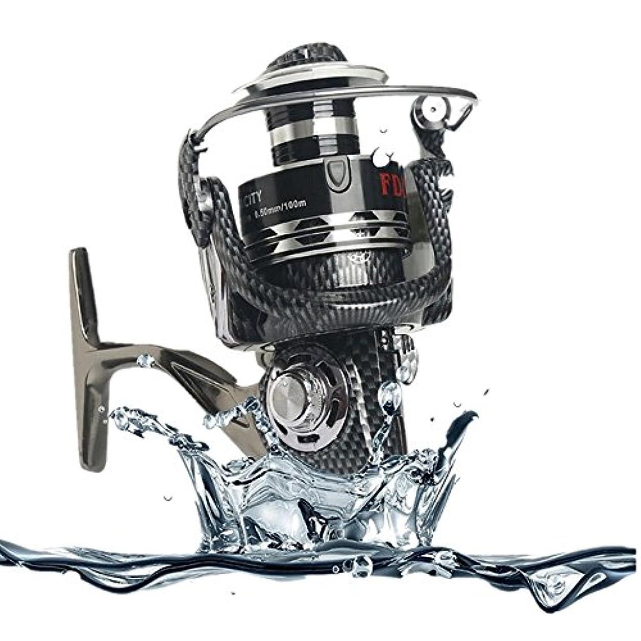 清める硬さ神秘的なスピニングリール 釣りリールライトスムースベースギアスピニングキャスティング左右右塩水淡水釣りリール 釣りリール (Size : 5000)
