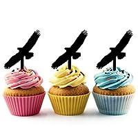 JPTA0097 飛行鷲 Flying Eagle アクリル製 カップケーキトッパー ケーキトッパー ケーキスティック 結婚式 誕生日 パーティー 装飾用品 アクセサリー 10本