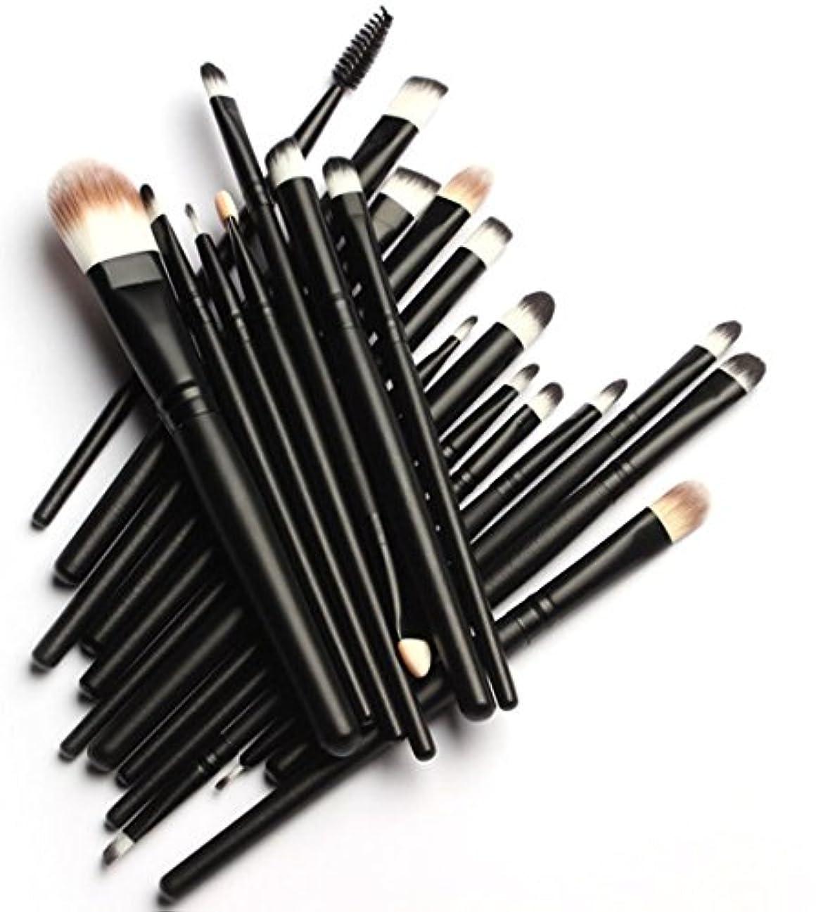 付属品人道的版(メイクアップエーシーシー)MakeupAccメイクブラシ20本セット 化粧筆 多機能 柔らかい 黒 化粧セット【並行輸入品】