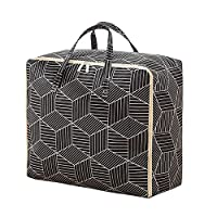 Dkhsy収納バッグ収納袋布団収納袋保管バッグ大型キルト収納バッグ防塵移動ハウスバッグ、衣類、寝具用ジッパーハンドル付き