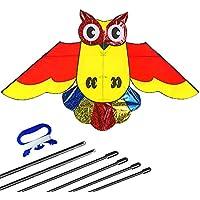 Bird Kite for Kids 58 x x31インチanti-tear Owl Kite Nylon withプレミアムフラットラインWinder and Carry Bag Perfect凧Single Line for theビーチ、公園、アウトドアアクティビティ