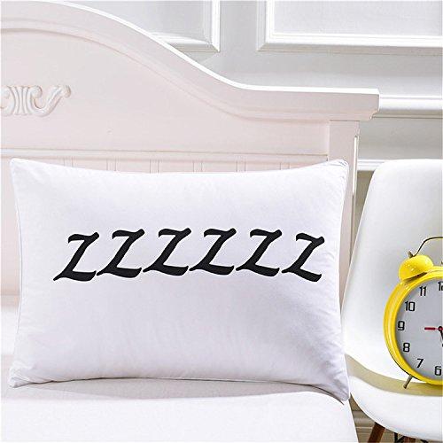 犬 zzz柄 おしゃれ シンプル 柔らかい 寝具枕カバー ピローケース クッションカバー 50×75cm  夫婦  恋人 最適 白 セット ポリエステル